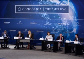 """MIAMI, FL - MAY 13:  General view at Concordia The Americas, a high-level Summit on the Americas organized by Concordia taking place at Miami Dade College in partnership with Univision and Americas Society/Council of the Americas on May 13, 2016 in Miami, Florida.  (Photo by Leigh Vogel/Getty Images for Concordia)"""