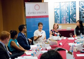 Key decision makers and policy experts participate in an interactive and substantial discussion on labor trafficking in supply chains, in partnership with Concordia and the Nomi Network at the IESE business school on July 14th.