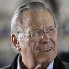 Rumsfeld At Balad Air Base In Iraq