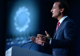 NEW YORK, NY - SEPTEMBER 19:  Chairman & Chief Executive Officer, the Libra Group & Chairman, Concordia Leadership Council George M. Logothetis speaks and New America President at the 2016 Concordia Summit - Day 1 at Grand Hyatt New York on September 19, 2016 in New York City.  (Photo by Riccardo Savi/Getty Images for Concordia Summit) *** Local Caption *** George M. Logothetis