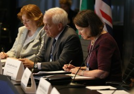 NEW YORK, NY - SEPTEMBER 20:  Minister of Immigration, Refugees and Citizenship of Canada John McCallum attends 2016 Concordia Summit - Day 2 at Grand Hyatt New York on September 20, 2016 in New York City.  (Photo by Paul Morigi/Getty Images for Concordia Summit) *** Local Caption *** John McCallum;Anne Richard;Kathleen Newland
