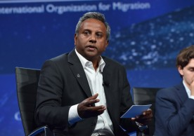 NEW YORK, NY - SEPTEMBER 20:  Secretary General, Amnesty International Salil Shetty speaks at the 2016 Concordia Summit - Day 2 at Grand Hyatt New York on September 20, 2016 in New York City.  (Photo by Bryan Bedder/Getty Images for Concordia Summit) *** Local Caption *** Salil Shetty