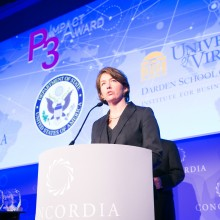mary margaret frank 2014 2 220x220 - Department of State, UVA Darden School, and Concordia Announce Finalists for 2016 P3 Impact Award