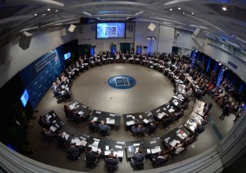 """MIAMI, FL - MAY 12:  General view at Concordia The Americas, a high-level Summit on the Americas organized by Concordia taking place at Miami Dade College in partnership with Univision and Americas Society/Council of the Americas. (Photo by Leigh Vogel/Getty Images for Concordia)"""