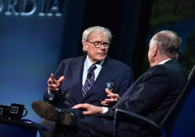 NEW YORK, NY - SEPTEMBER 19:  NBC News Special Correspondent Tom Brokaw and Founder & Chairman, BP Capital Management T. Boone Pickens speak at the 2016 Concordia Summit - Day 1 at Grand Hyatt New York on September 19, 2016 in New York City.  (Photo by Bryan Bedder/Getty Images for Concordia Summit) *** Local Caption *** Tom Brokaw;T. Boone Pickens