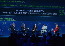 NEW YORK, NY - SEPTEMBER 20:  Gregory J. Rattray, Reginald Brothers, Keith Alexander, Thomas J. Ridge and Frances Fragos Townsend speak at the 2016 Concordia Summit - Day 2 at Grand Hyatt New York on September 20, 2016 in New York City.  (Photo by Riccardo Savi/Getty Images for Concordia Summit) *** Local Caption *** Gregory J. Rattray;Reginald Brothers;Keith Alexander;Thomas J. Ridge;Frances Fragos Townsend