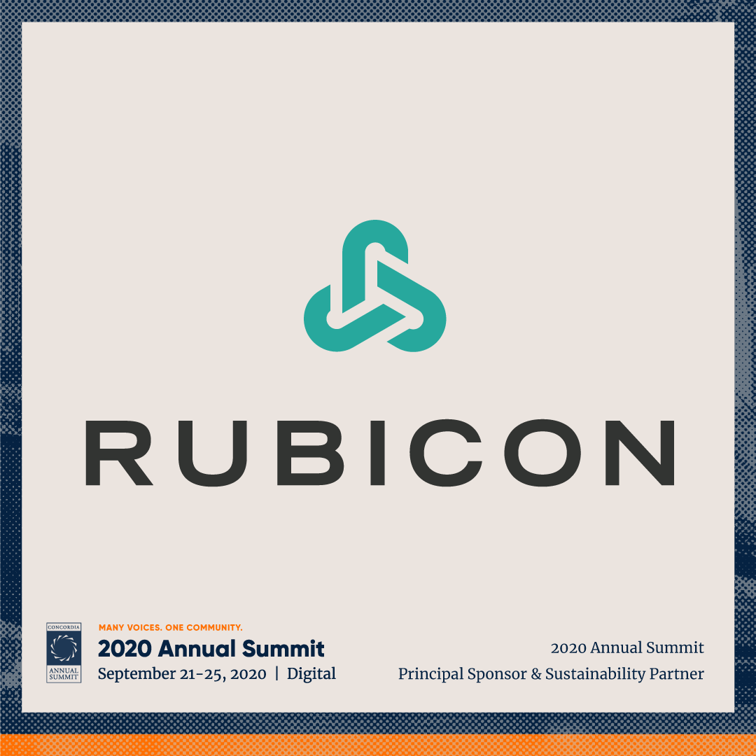 ANN20 Rubicon - Concordia welcomes Rubicon as Principal Sponsor & Sustainability Partner for the 2020 Annual Summit
