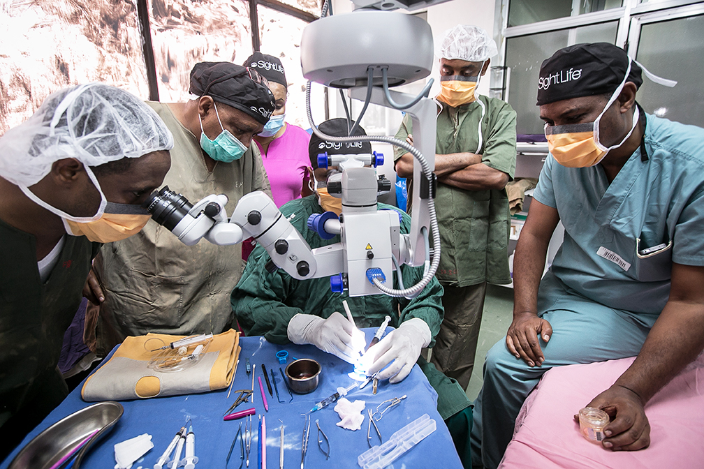 Surgeon development training - Eye Bank of Ethiopia Elimination of Corneal Blindness Partnership
