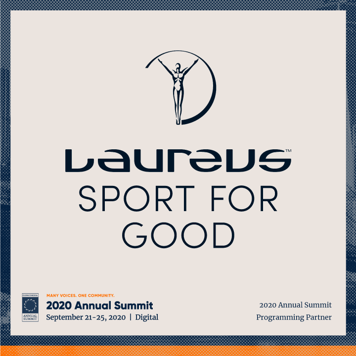 ANN20 Laureus - CONCORDIA WELCOMES LAUREUS SPORT FOR GOOD AS A PROGRAMMING PARTNER FOR THE 2020 ANNUAL SUMMIT