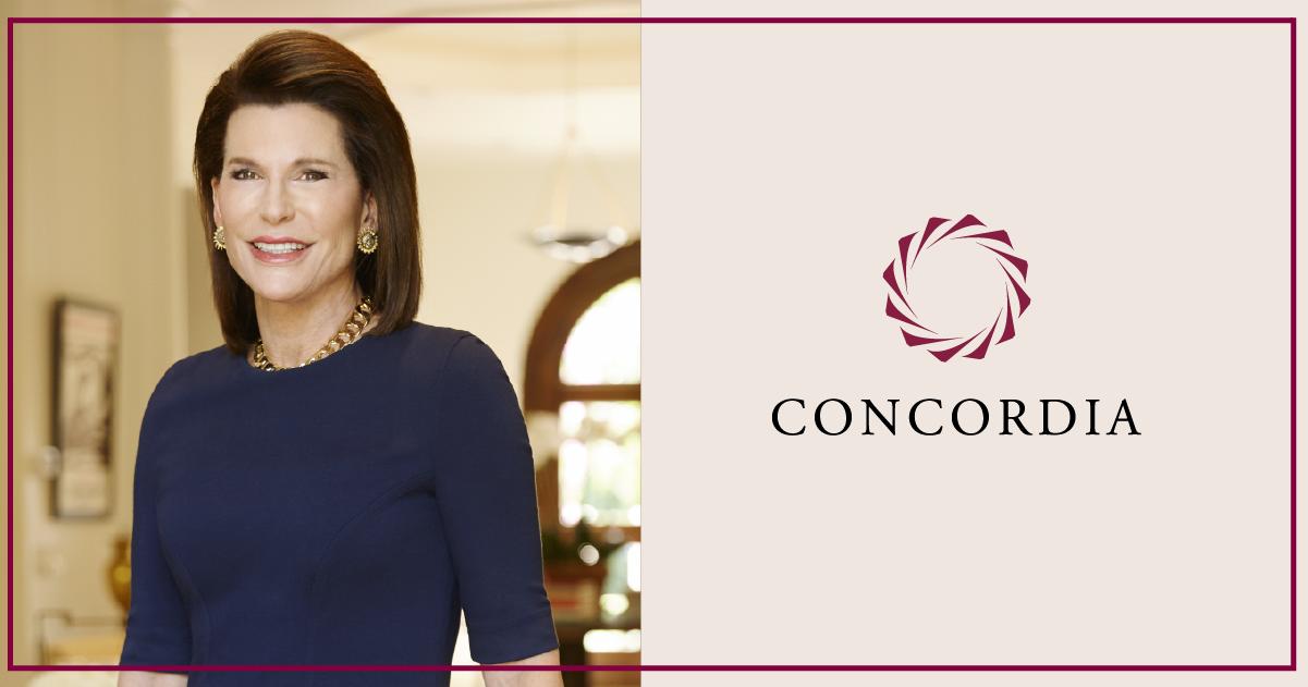 Nancy Brinker Banner - Concordia welcomes Nancy Brinker to the Leadership Council